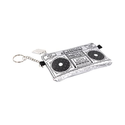 Original Fydelity Universal Le Boom Box Pocito Phone/ MP3 Case w/ Built-In Speaker (3.5mm), 87021 - Silver/ Black