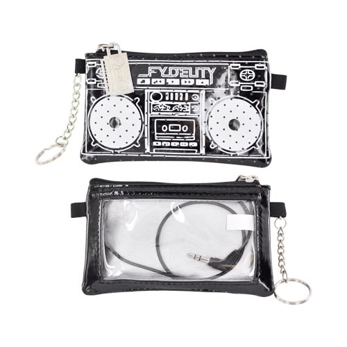 Original Fydelity Universal Le Boom Box Pocito Phone/ MP3 Case w/ Built-In Speaker (3.5mm), 87031 - Black/ White