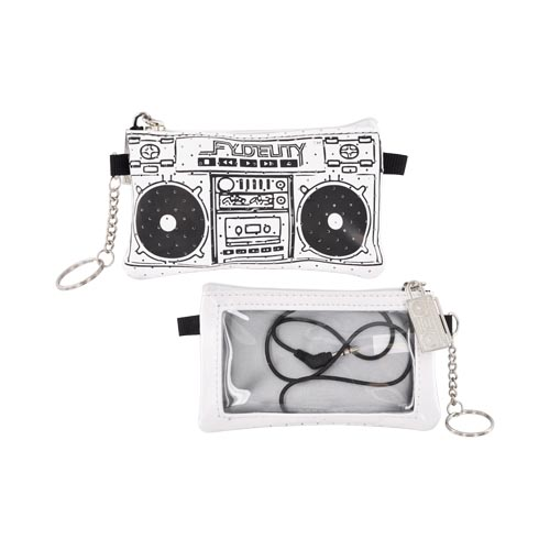 Original Fydelity Universal Le Boom Box Pocito Phone/ MP3 Case w/ Built-In Speaker (3.5mm), 87032 - White/ Black