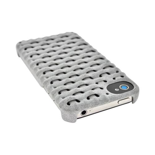 OEM Freshfiber Apple iPhone 4/4S Textured Nylon Hard Case - Gray Woven Fiber