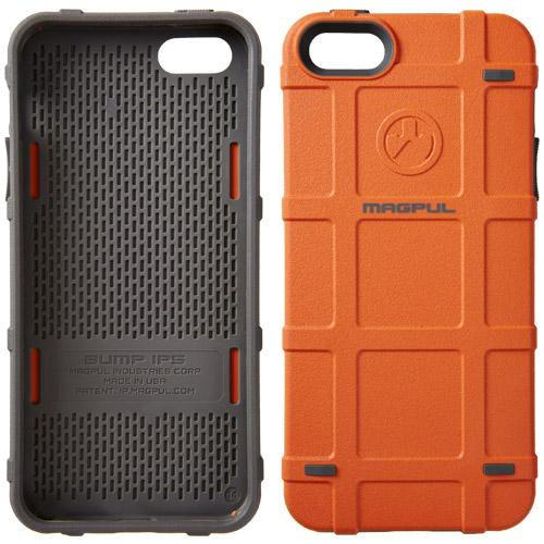 Magpul [Orange] Apple iPhone 5 / 5S Bump Series Slim Protective Rugged Dual Layer Hybrid Case - MAG454-ORG