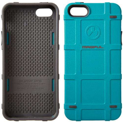 Magpul [Teal Blue] Apple iPhone 5 / 5S Bump Series Slim Protective Rugged Dual Layer Hybrid Case - MAG454-TEA