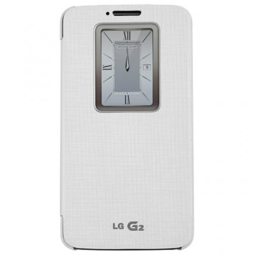 LG White QuickWindow Convenient Folio Case for LG G2 (Excluding Verizon)