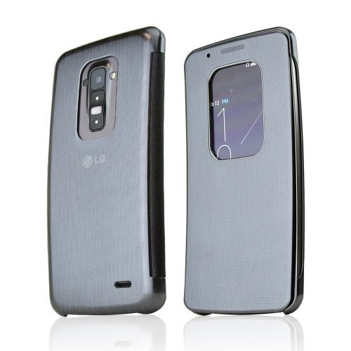 LG Silver QuickWindow Convenient Folio Case for LG G Flex