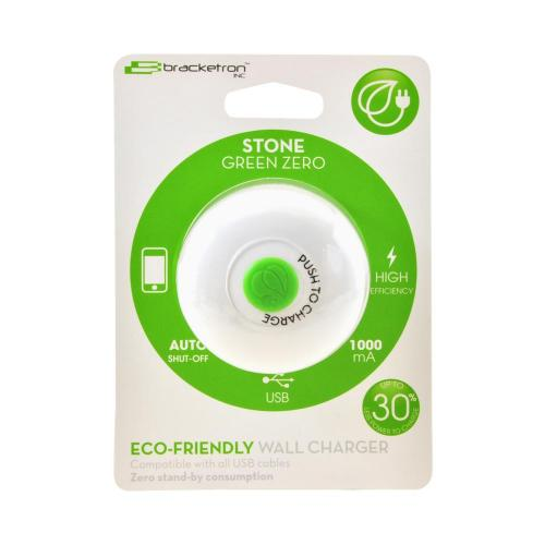 OEM Bracketron Stone Eco-Friendly Universal USB Wall Charger, UGC-377-BL - White/ Green