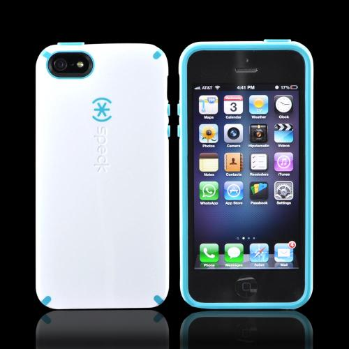 Apple iPhone SE / 5 / 5S  Case, Speck [White/ Turquoise] CandyShell Series Hard Case - SPK-A0478