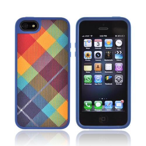 OEM Speck FabShell Apple iPhone 5/5S Hard Shell & Fabric Case  SPK-A0760 - MegaPlaid Spectrum