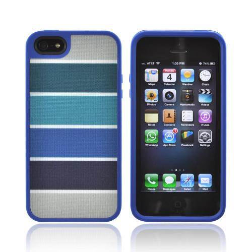 Apple iPhone SE / 5 / 5S  Case, Speck [ColorBar Arctic Blues] Fabshell Series Hard Shell & Fabric Case - SPK-A0761