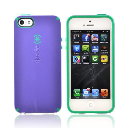 OEM Speck CandyShell Apple iPhone 5/5S Hard Case  SPK-A0766 - Purple/ Green