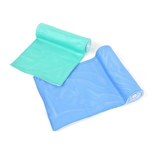 N-Rit [Light Blue/ Lime Green] Ice Mate Cool Towel w/ Cooling Technology - Beat the Heat!