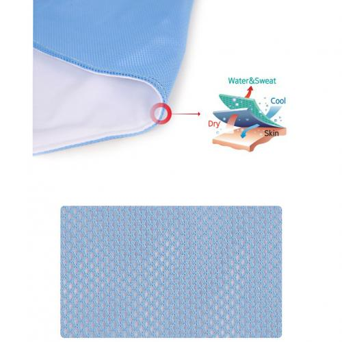N-Rit [Baby Pink/ White] Ice Mate Cool Towel w/ Cooling Technology - Beat the Heat!