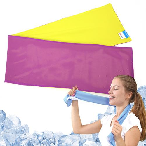 N-Rit [Purple/ Lime Green] Ice Mate Cool Towel w/ Cooling Technology - Beat the Heat!