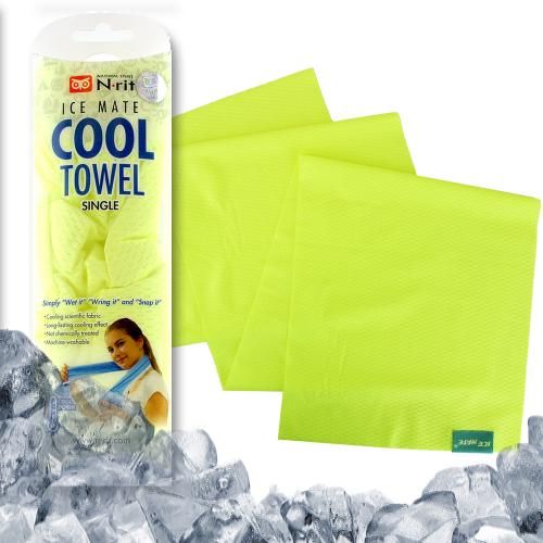 N-Rit Ice Mate Cooling Sport Towel [Yellow] Advanced Cooling Towel Designed for All Sports Players, Golf Towel, Gym Towel, Yoga Towel and More