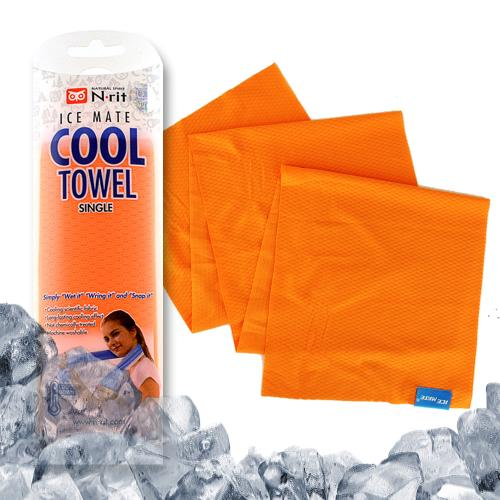 N-Rit Ice Mate Cooling Sport Towel [Orange] Advanced Cooling Towel Designed for All Sports Players, Golf Towel, Gym Towel, Yoga Towel and More
