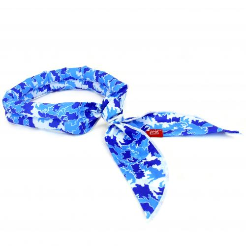 N-Rit [Blue] Cool-X Polyester Scarf w/ High Tech Polymer Interior - Beat the Heat!