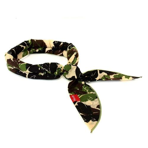 N-Rit [Green Camo] Reusable Cotton Polar Ice Scarf w/ Crystal Polymer Cooling Technology - Beat the Heat!