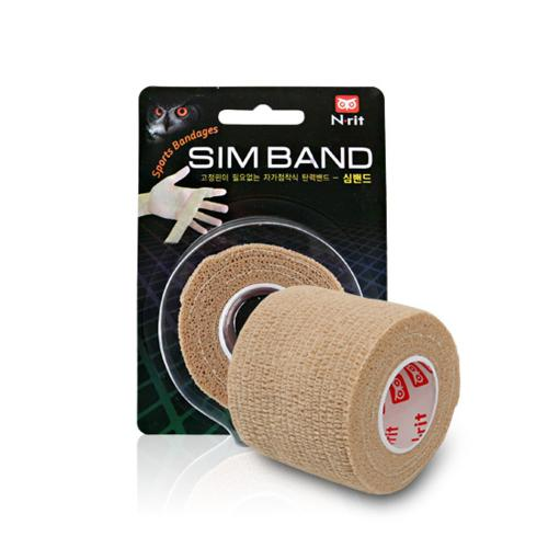 N-Rit Sim Band Sports Bandages [Beige] - 2 Roll Pack