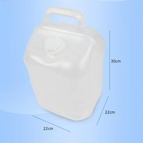 N-Rit Clear 10 Liter (2.64 Gallons) Smart Water Bag Jug Bottle (Doubles as a Basket When Empty) - Ideal for camping!