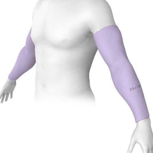 N-Rit Tube 9 Coolet  Cooling Compression Sports Arm Sleeve [Violet] w/ 99% UV Protection for Outdoor Activities (Golf Training Cycling etc)
