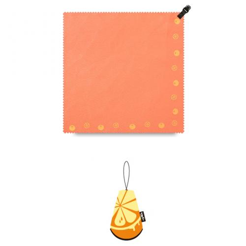 Microfiber Towel Ultra Absorbent Rapid Drying Antibacterial Travel Sports Towel Handkerchief w/ Compact Carry Pouch Bag (Great for Outdoors/Sports/Exercise/Hiking/Running) – 8x8in [Mini] [Orange]