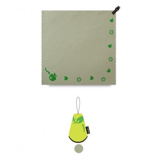 "N-Rit Green Campack Cleaner 7.87""x 7.87"" (20x20cm) Microfiber Cloth - Perfect for Cleaning Your Device!"