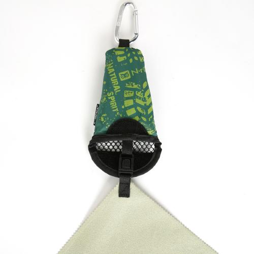 "N-Rit [Green] Campack Small Cleaner 12""x12"" (30x30cm) Microfiber Cloth - Perfect for Hiking!"