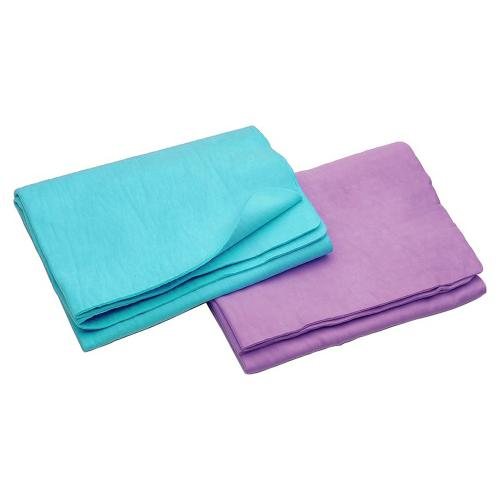 "Microfiber Sports Travel Towel [suede Towel] - Ultra Absorbent Fast Drying Durable Antibacterial Fabric [Mint] [Medium 15.75""x31.5""]"
