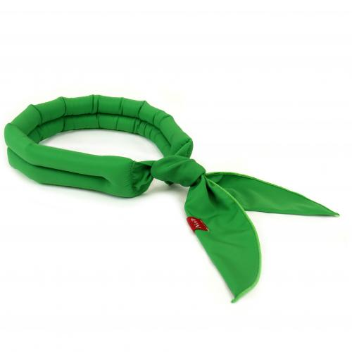 N-Rit [Dark Green] Cool-X Polyester Scarf w/ High Tech Polymer Interior - Beat the Heat!