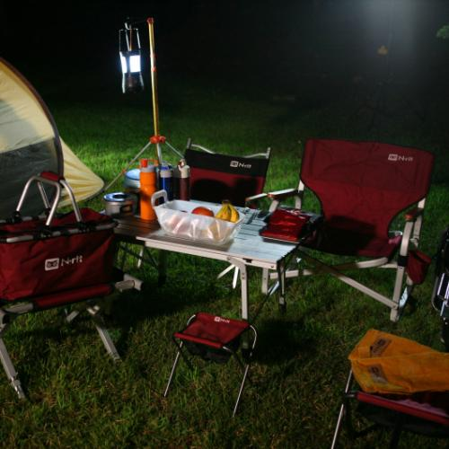Compact Folding Chair for Camping, Fishing, BBQ w/ Built-in Storage Pouch (Carry Bag included)