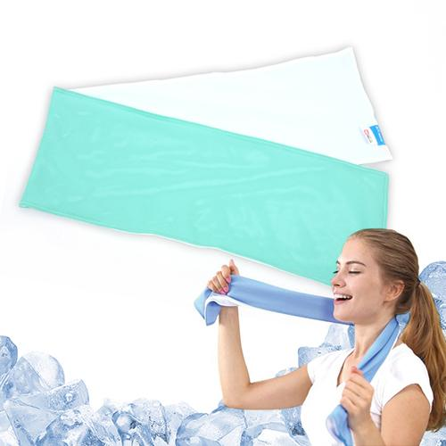 Cooling Gym Towel, Reusable Ultra Lightweight Durable Chilling Sports Towel [White/ Emerald Green] Stays cool for hours! Perfect for Outdoors, Exercise, Running, Hiking