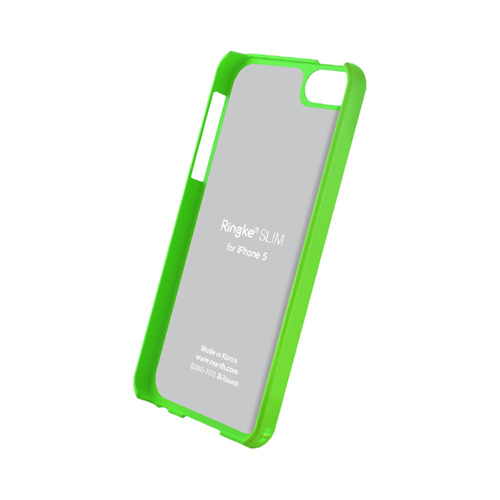 Rearth Neon Green Ringke Slim Rubberized Hard Back Cover Case for Apple iPhone 5/5S - XXIP5
