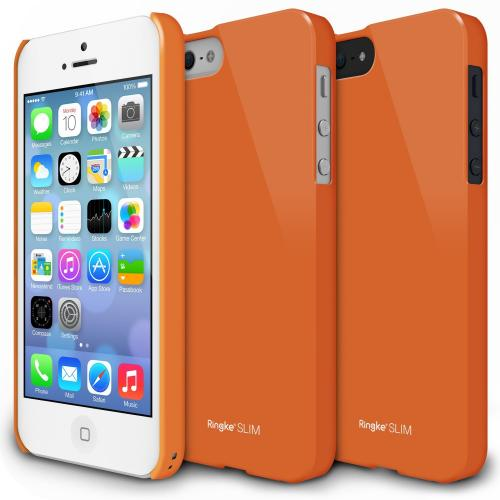 Orange Apple iPhone 5/5S SLIM Series Premium Dual Coated Hard Cover Case