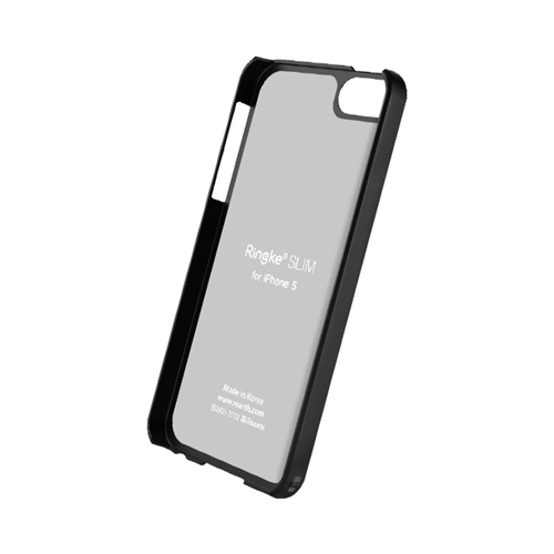 OEM Rearth Ringke Slim Apple iPhone 5/5S Rubberized Hard Back Cover Case - Black