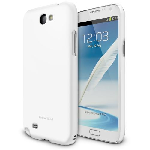 [LF White] Samsung Galaxy Note 2 Ringke SLIM LF Premium Hard Case AT&T, Verizon, Sprint and Unlocked - Eco Package [REVISED VERSION]