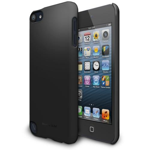 Black iPod Touch 5th Generation SLIM Series Premium Hard Cover Case