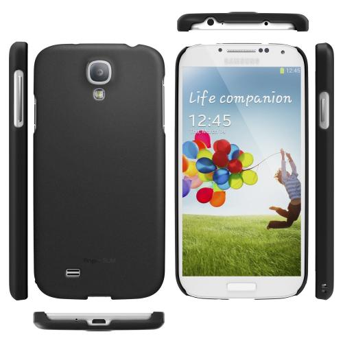Black Samsung Galaxy S4 SLIM Series Premium Dual Coated Hard Cover Case
