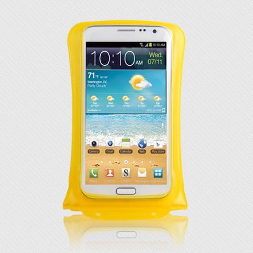 DiCAPac Waterproof Case for Samsung Galaxy Note Series [Yellow] - Protect Your Smartphone From Water This Summer! WP-C2