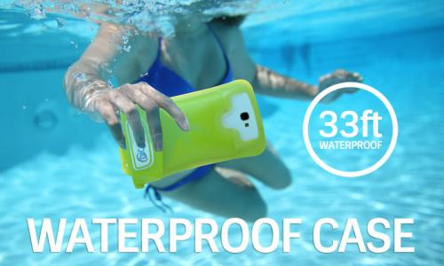 DiCAPac Waterproof Case for Samsung Galaxy Note Series [Pink] - Protect Your Smartphone From Water This Summer! WP-C2