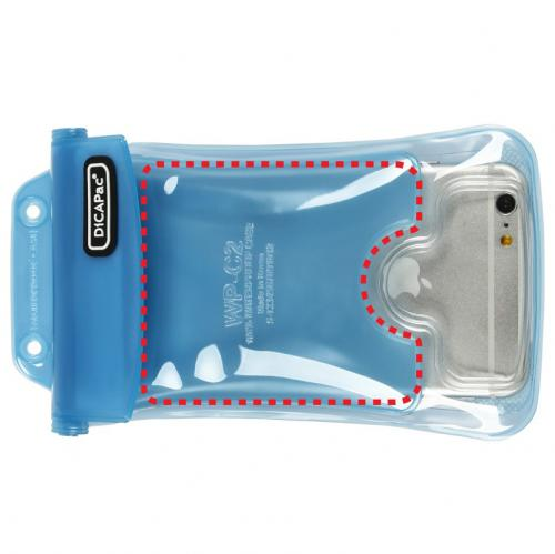 DiCAPac [White] 100% Waterproof Case for Apple iPhone 6 Plus, Samsung Galaxy Note Series Phones