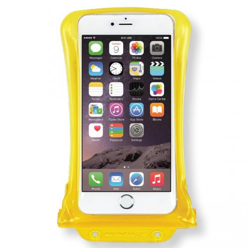 DiCAPac [Yellow] 100% Waterproof Case for Apple iPhone 6 Plus, Samsung Galaxy Note Series Phones