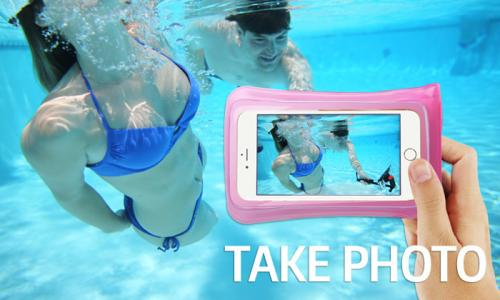 DiCAPac Waterproof Case for Apple iPhone 6 Plus, Samsung Galaxy Note Series [Smoke] - Protect Your Smartphone From Water This Summer! WP-C2