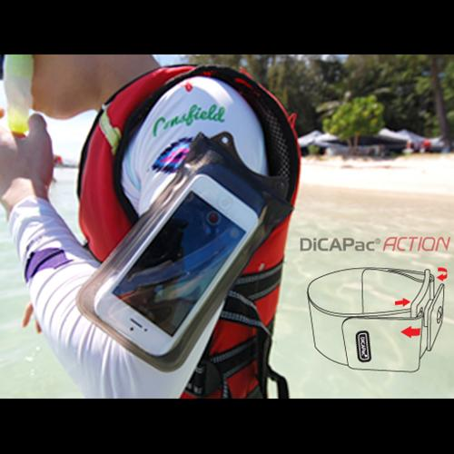 DiCAPac Black Action Adjustable Armband Compatible w/ Action Waterproof Cases
