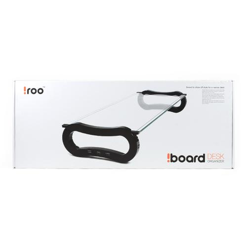 Black iRoo iBoard Simple Desk Organizer Monitor Riser w/ Tempered Glass for Notebooks/ LCD Monitors - IB-905