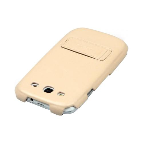 OEM Zenus Samsung Galaxy S3 Masstige Heritage Leather Stand Case - Light Beige