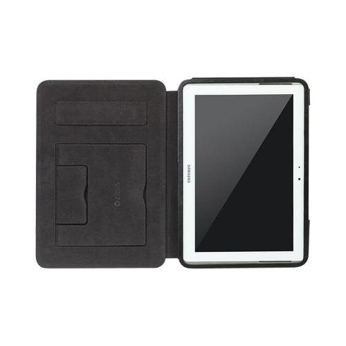 OEM Zenus Samsung Galaxy Note 10.1 Masstige Band Lettering Leather Stand Case - Black