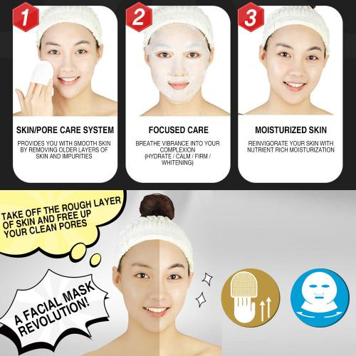 E-CURE All in One Care 2-Piece Intensive Shaping & Soothing Face Mask