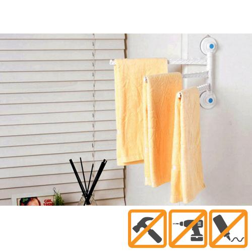 Glaster Wall Mounted Magic Hanger (3 Arms) [White]