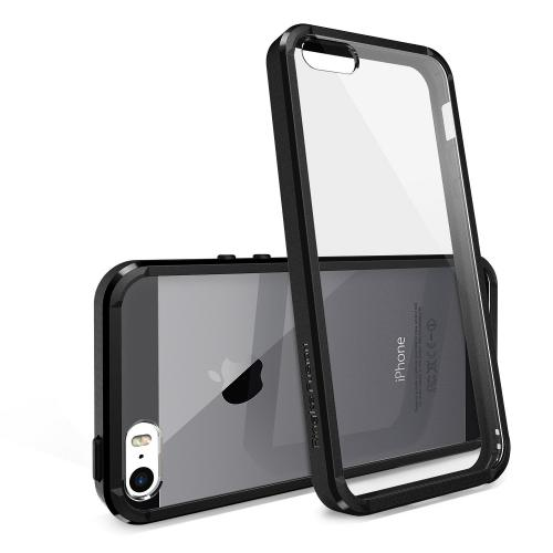 iPhone 5S Case - Ringke Fusion Bumper Premium Hybrid Case with Free Screen Protector for Apple iPhone 5S/5 - Eco Package - Retail Packaging - Black
