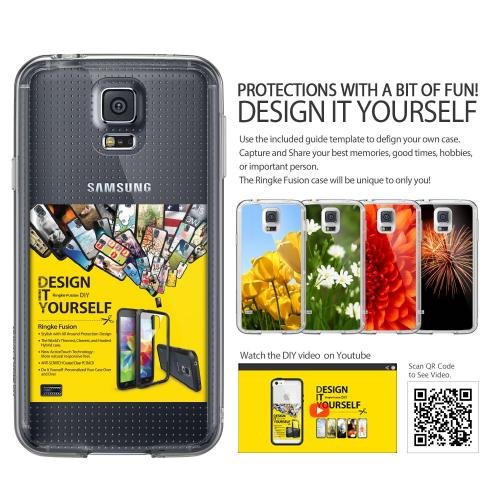 Galaxy S5 Case, Ringke Fusion Case [free Hd Film/drop Protection][black] Shock Absorption Bumper Premium Hybrid Hard Case For Samsung Galaxy S5