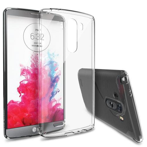 Lg G3 Case - Ringke Slim Case [free Hd Film][crystal] -revised Version (no Dmb Hole) - Full Top And Bottom Coverage Premium Dual Coated Hard Case